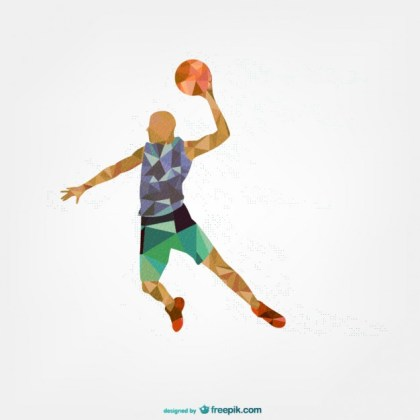 Sports Player Geometric Template Free Vector