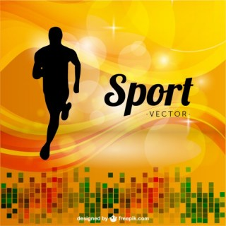 Sports Runner Background Free Vector