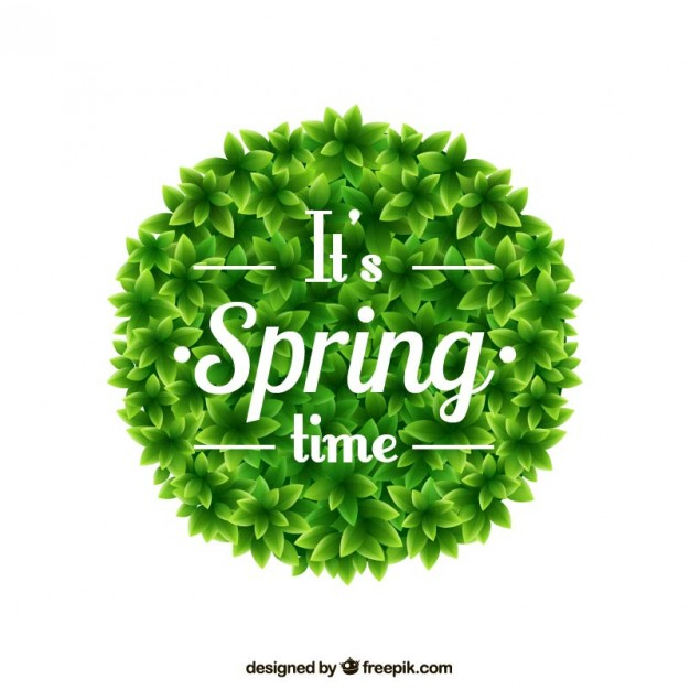 Spring Time on Round Bush Free Vector