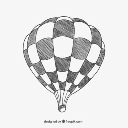 Squared Air Balloon Free Vector