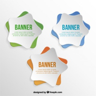 Star Banners Free Vector