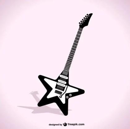 Star Guitar Free Vector
