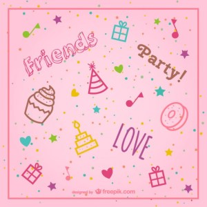 Stylish Pink Birthday Background Free Vector