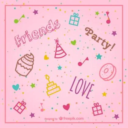 Stylish Pink Birthday Background Free Vector