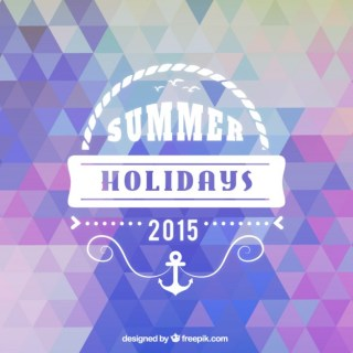 Summer Background in Geometric Style Free Vector