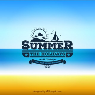Summer Badge Free Vector