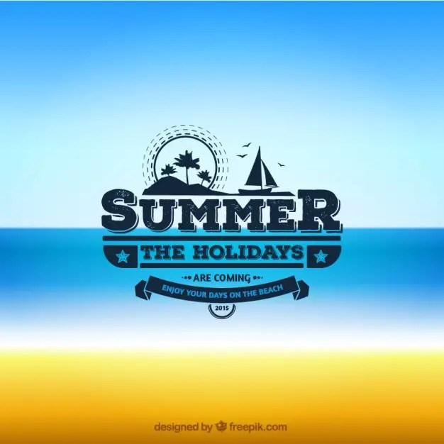 Summer Badge Free Vector