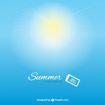 Summer Deals Background Free Vector