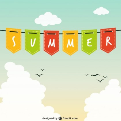 Summer Garland Free Vector