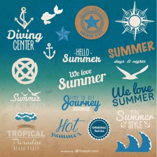 Summer Graphic Elements Free Vector