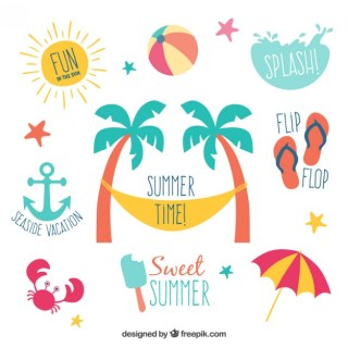 Summer Labels Free Vector