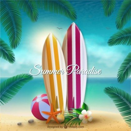 Summer Paradise Free Vector