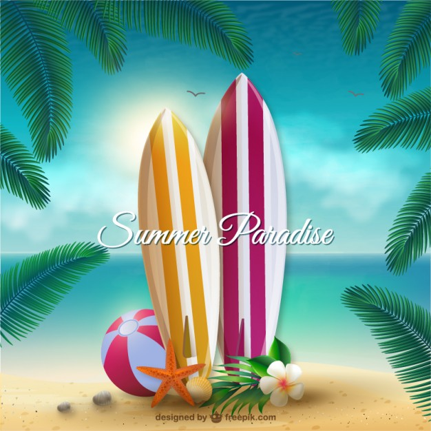 Summer Paradise Free Vector