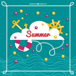 Summer Sea Image Free Vector