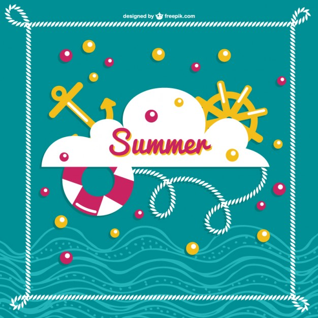 Summer Sea Image Free Vector