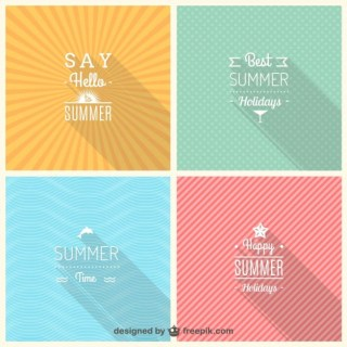 Summer Signs Free Vector