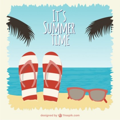 Summer Time Illustration Free Vector