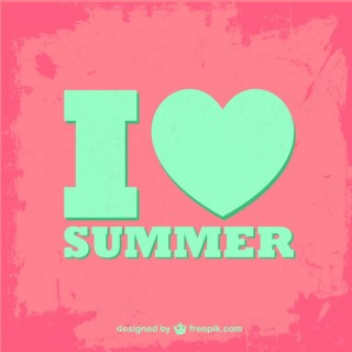 Summer Typographic Free Vector