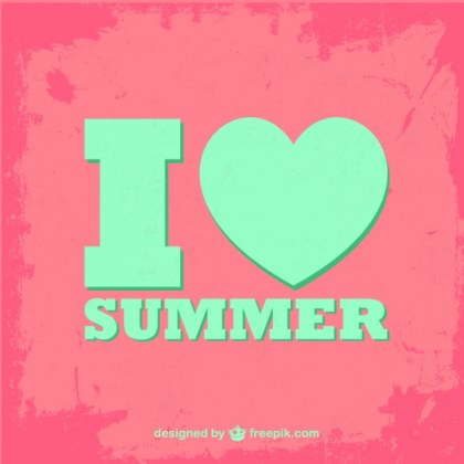 Summer Typographic Free Vector