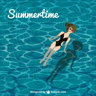 Summertime Pool Girl Free Vector