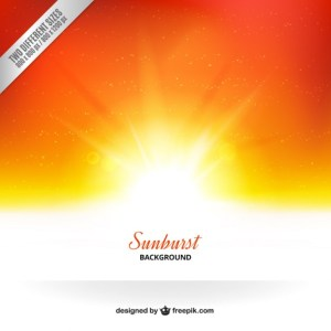 Sunburst Background Free Vector