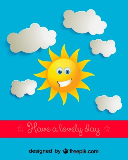 Sunny Day Vector Illustration Free Vector