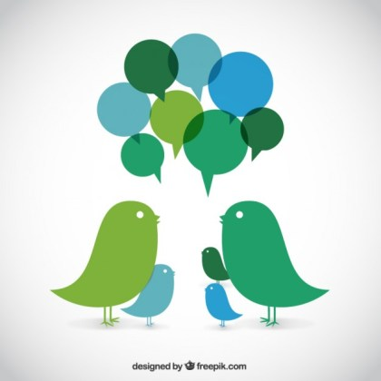 Talking Birds Free Vector