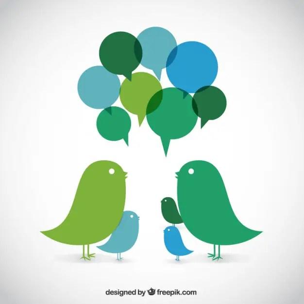 Talking Birds Free Vector