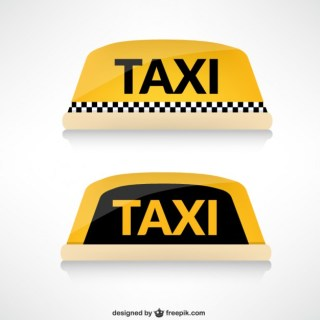 Taxi Roof Free Vector