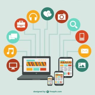 Technology Devices Network Free Vector