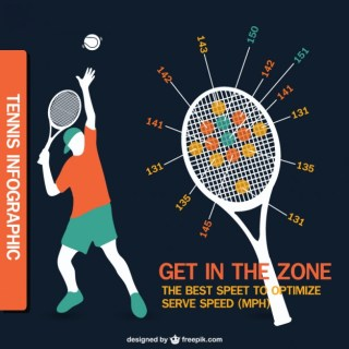 Tennis Infographic Design Free Vector