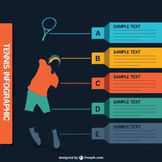 Tennis Infographic Free Vector
