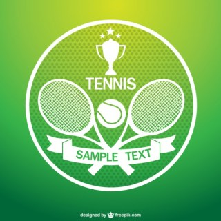 Tennis Tournament Art Free Vector