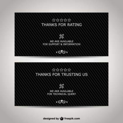 Thank You Business Banners Free Vector