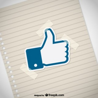 Thumbs Up with Paper Texture Free Vector