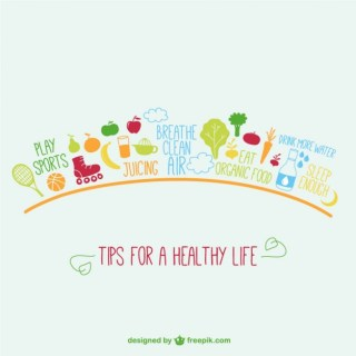 Tips for Healthy Life Free Vector