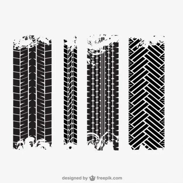 Tire Tracks Free Vector