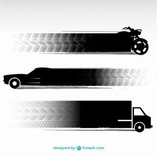 Tire Tracks Transportation Vehicles Free Vector