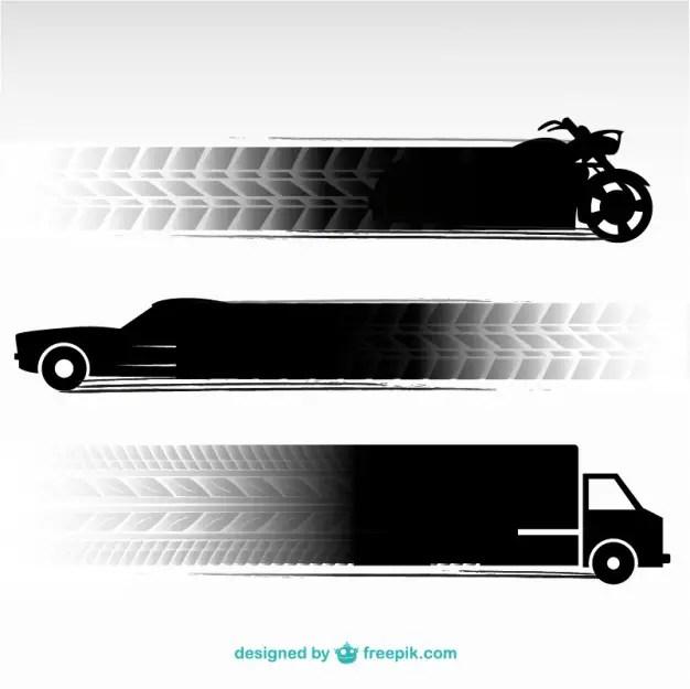 Tire Tracks Transportation Vehicles Free Vector
