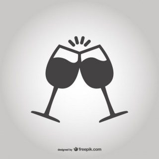 Toasting with Glasses Free Vector