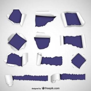 Torn Paper Textures Free Vector