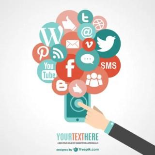 Touchscreen Phone Social Media Free Vector