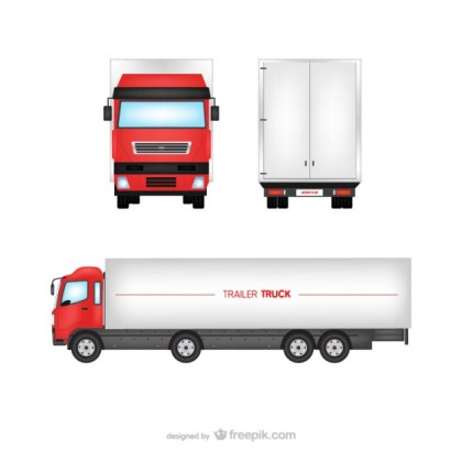 Trailer Truck Free Vector