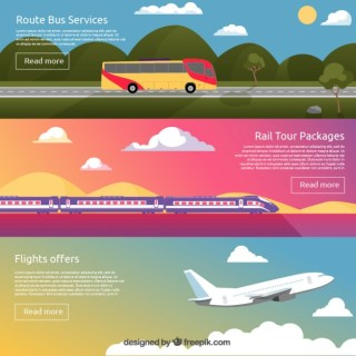 Transport Banners Free Vector