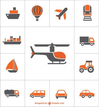 Transportation Icons Free Free Vector