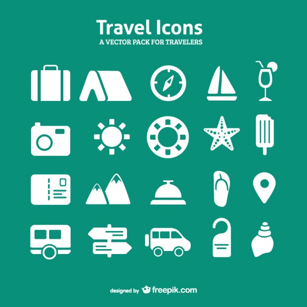 Travel Icon Pack Free Vector