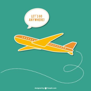 Travel with Plane Free Vector