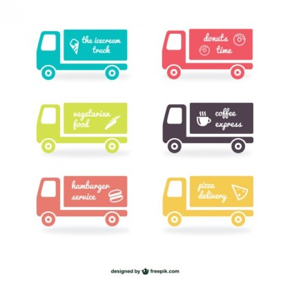 Truck Labels Pack Free Vector
