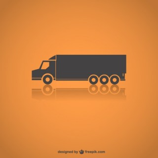 Truck Silhouette Free Vector