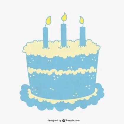 Turquoise Birthday Cake Free Vector